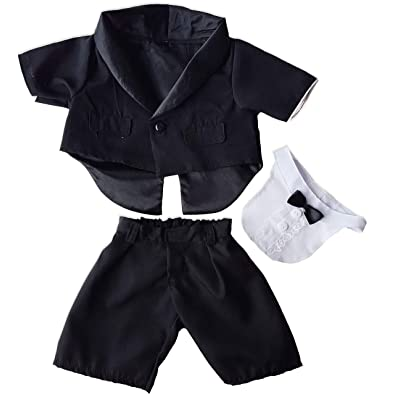 "Tuxedo outfit Teddy Bear Clothes Fits Most 14"" - 18"" Build-A-Bear and Make Your Own Stuffed Animals : Toys & Games"