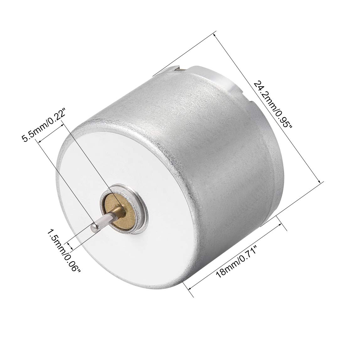 uxcell DC Motor 6V 7000-8000RPM 0.01A Electric Motor Round Shaft for RC Boat Toys Model 5Pcs
