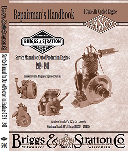 (Briggs & Stratton Service Manual For Out of Production Engines On CD)