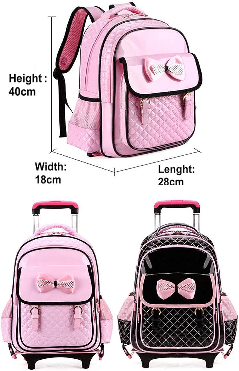 Kids Trolley Backpack Rolling School Backpack Waterproof Bookbag BESBOMIG