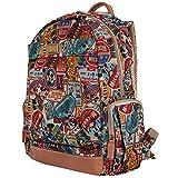 (US) Disney Vintage Style Mickey Mouse Pattern Mesh Multi Purpose Backpack Rucksack (bag-100-1)
