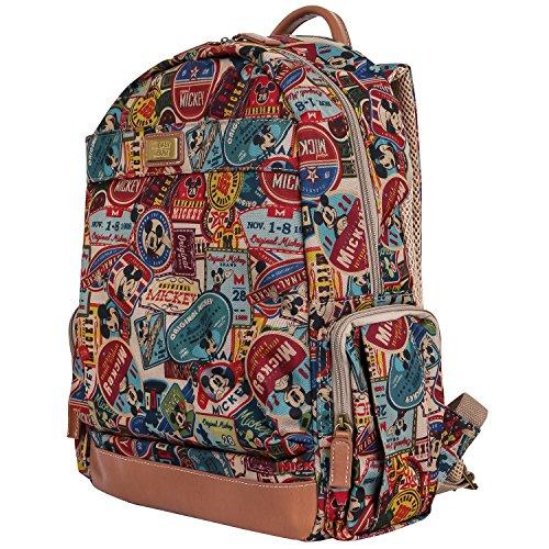 Disney Vintage Style Mickey Mouse Pattern Mesh Multi Purpose Backpack Rucksack (bag-100-1)
