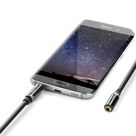 1m Aux Kabel Stereo 3,5mm Klinke Audio Klinkenkabel Für Handy Auto Schwarz Audiokabel & Adapter