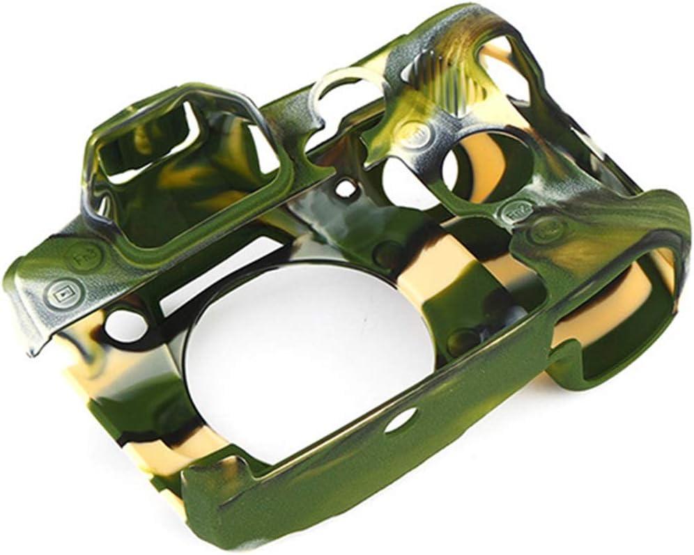 A Prueba de Polvo de Silicona Cubierta Protectora Adecuada for Lumix G9, maletín Profesional Suave Cuerpo de la cámara de la Piel Antideslizante (Color : Camouflage)