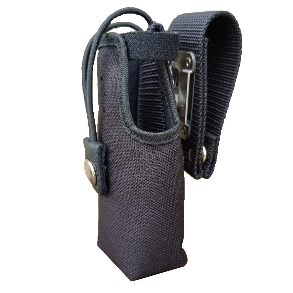 Case Guys GE7295-CBX Nylon Swivel Belt Loop Holster Case with Bungee Cord for Harris HDP 100 Two Way Radios