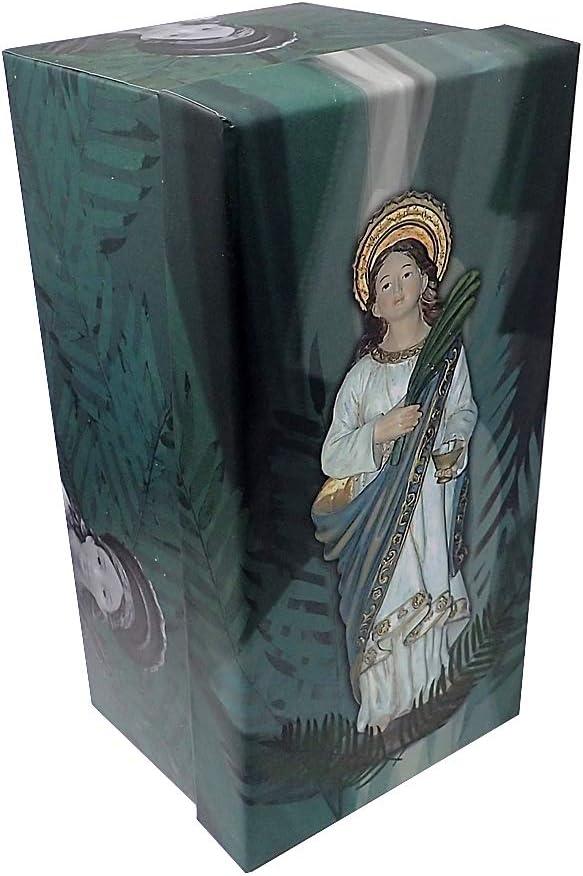 Inmaculada Romero IR Figura Santa Lucía Adorno 19Cm. Resina Peana Decoración: Amazon.es: Hogar