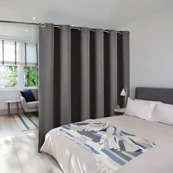 room divider curtain screen partitions nicetown premium heavyweight blackout curtain panel with grommet top for