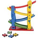 Little star Wooden ladder gliding car