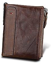 Dlife Tarjetero RFID Cartera Crédito, Cartera de Aleación de Aluminio Multiuso Bolsillos, Cuero PU