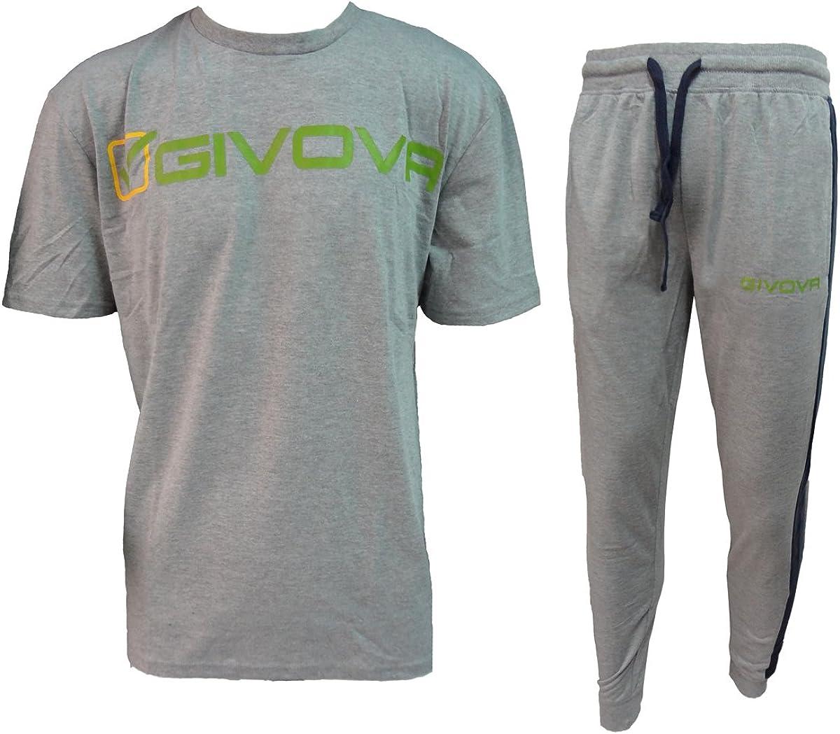 G501 givova Tuta Uomo Pantalone Lungo Mezza Manica 100/% Cotone Art