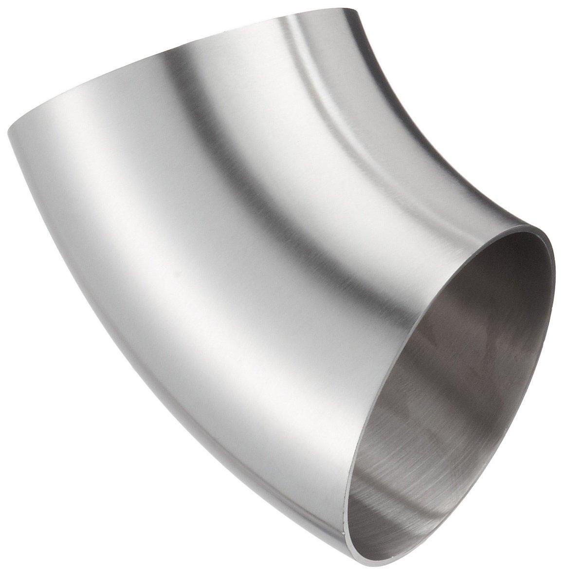 45 Degree Polished Weld Short Elbow Dixon B2WK-G300P Stainless Steel 304 Sanitary Fitting 3 Tube OD 3 Tube OD Dixon Valve /& Coupling