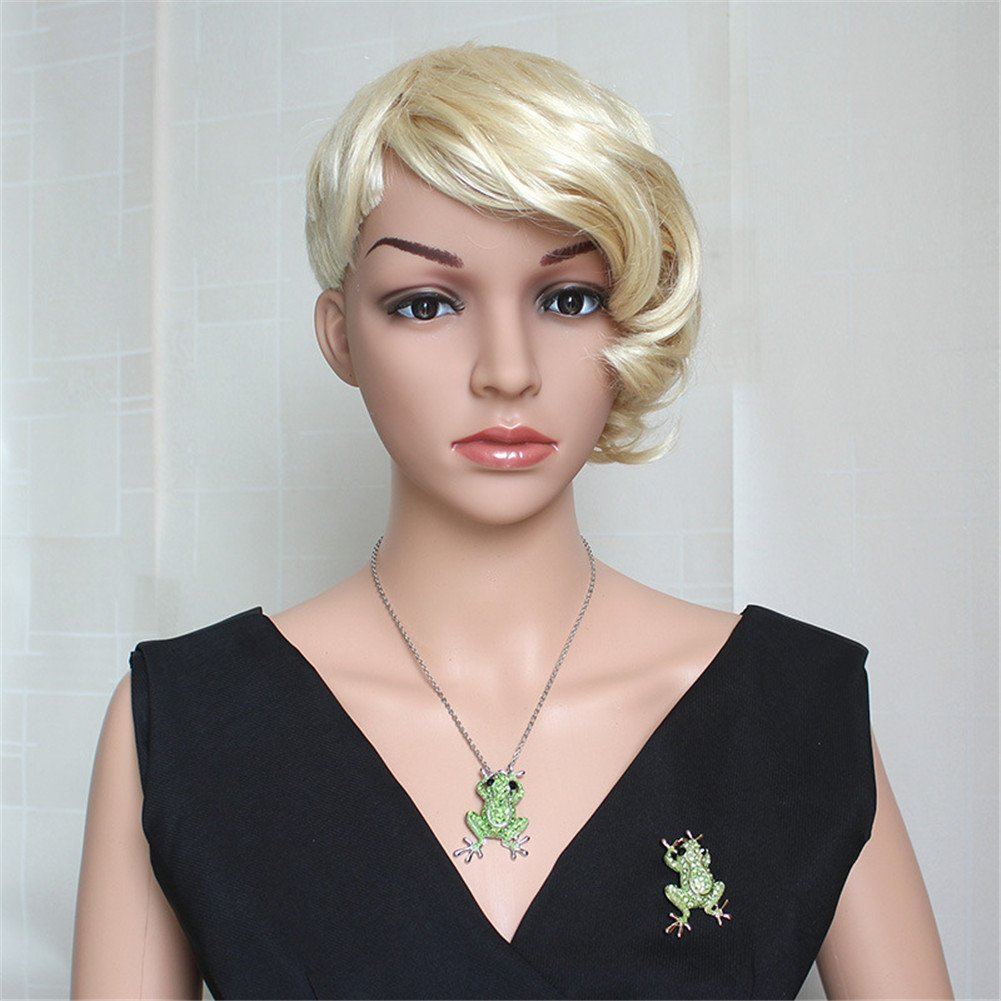 Crystal Rhinestone Synthetic Emerald Golden Frog Fashion Jewelry Pin Brooch for Christmas Gift by LOVFASHION (Image #2)