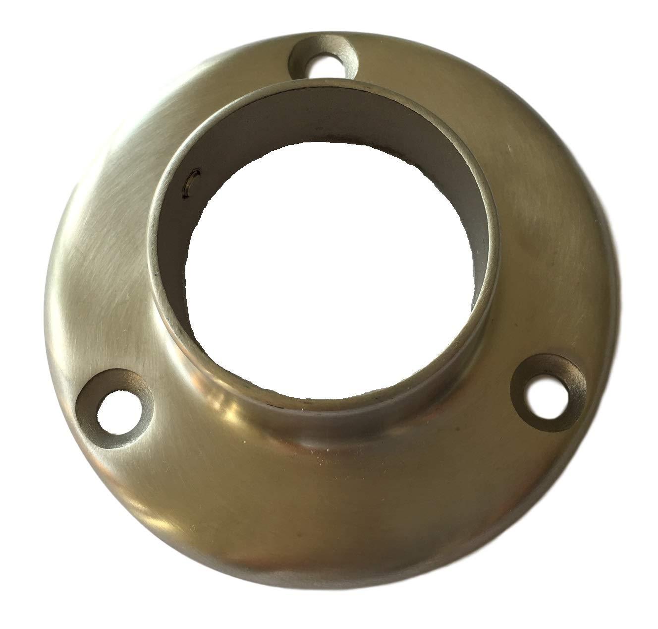 Metall Edelstahl Wandflansch 42.4mm /Öffnung f/ür Handlauf Zubeh/ör auch Holz Buche Eiche usw Wandanschluss f/ür Gel/änder Rohre//Halter Wand-Halterung