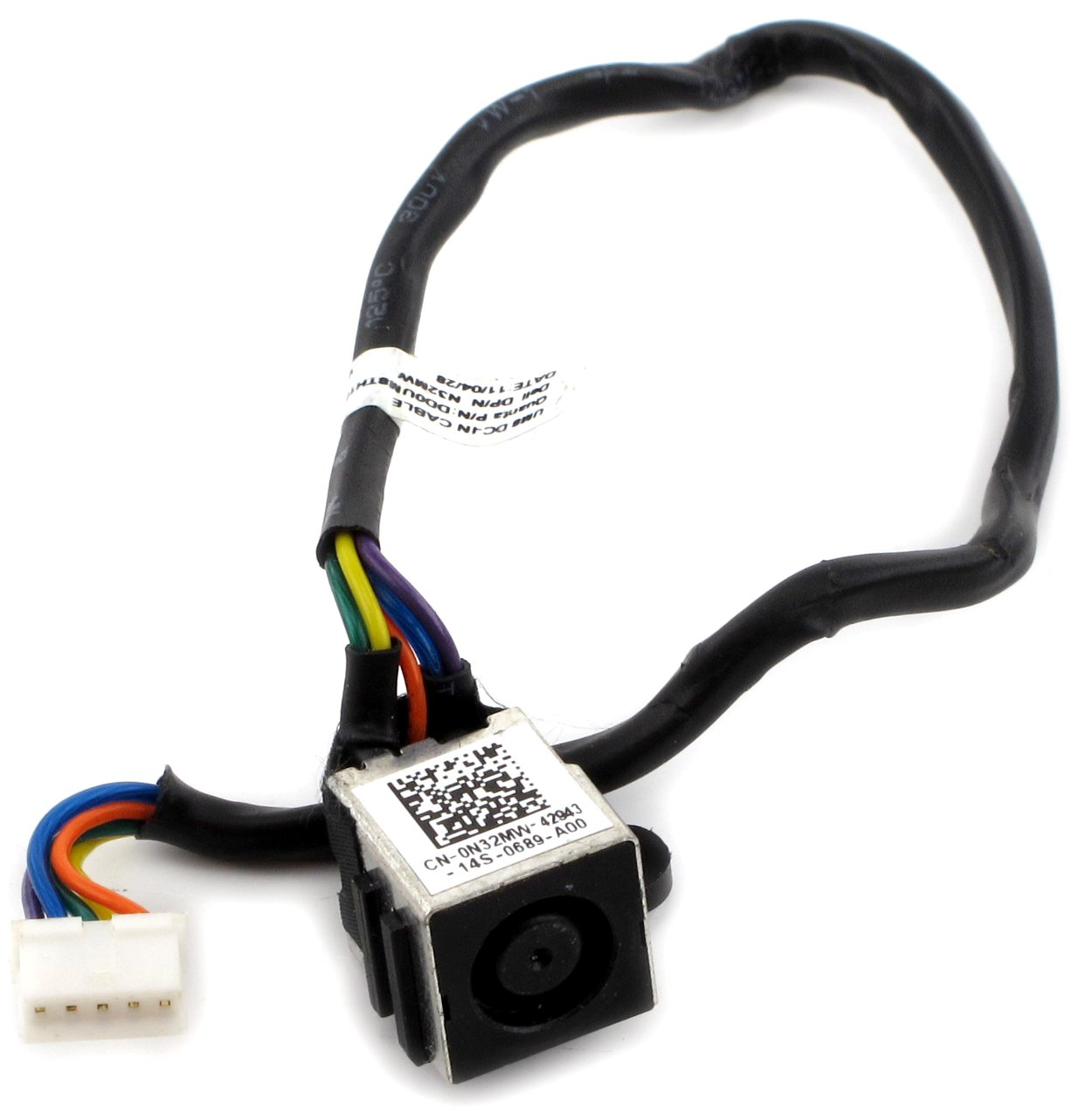Amazon.com: Ac Dc Power Jack Cable Plug in Socket Wire Harness Dell ...
