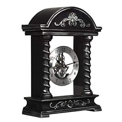 Family Fireplace Clocks Roman cl á sico Table Clock Mantra Ticking Resin Decorative Watches with Gear