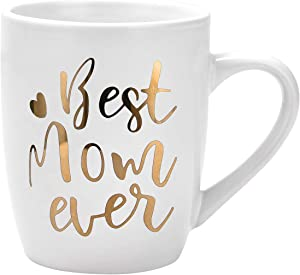 Best Mom ever Coffee Mug Mother's Day Gifts for Mom Birthday Christmas Gifts for Women Baby shower Gifts Ceramic Coffee Mugs Cups 11 Ounce