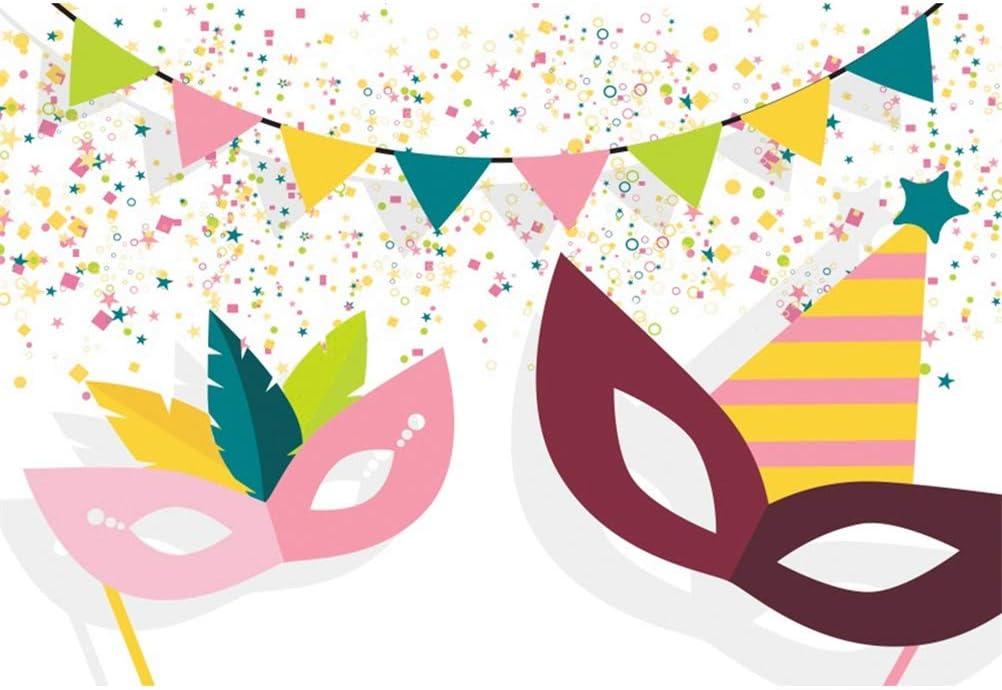 Leowefowa 10x10ft Happy Purim Backdrop Vinyl Cartoon Hamantaschen Cookies Illustration Photography Background Jewish Fiesta Carnival Party Banner Child Baby Photo Shoot Studio Props