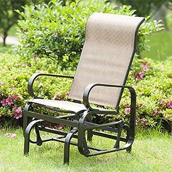 amazon com marble field patio sling rocker chair outdoor glider