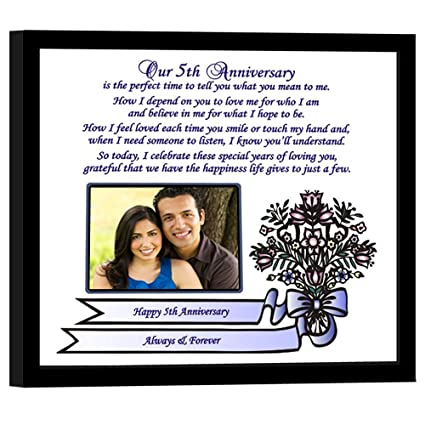 Traditional 5th Wedding Anniversary Gift For Wife Or Husband 8x10