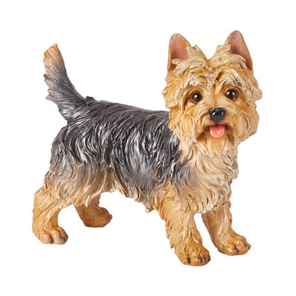 zeng dog sculptures Simulation Dog Ornaments Dog Statue Living Room Home  Furnishings Outdoor Garden Decorations Yorkshire Terrier sculpture