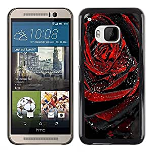 Stuss Case / Funda Carcasa protectora - Black Rose Dew Drop Spring Love - HTC One M9