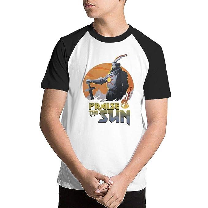 35b2340e1 Amazon.com: Baseball Tee T-Shirts for Kids Youth - Praise The Sun ...
