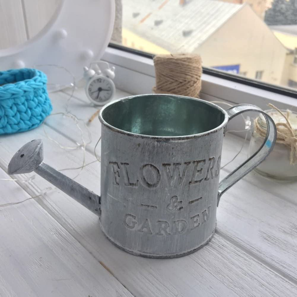 TOOGOO vintage pot de fleur de seau en fer panier suspendu style pastoral artisanat decoration de mur,de maison et de bureau accessoires de photo