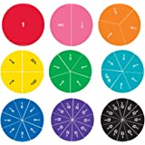 Learning Resources Cercles de Fractions Aimantés Recto-Verso