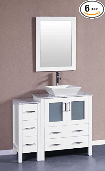 Bosconi Bathroom Vanities 42 Single Vanity With Square Vessel Sink