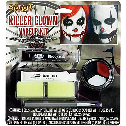Fancy Face Paint Color Halloween Scary Clown Makeup Kit