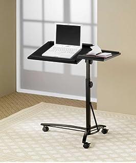 relaxdays 10020396_46 tavolino portatile con rotelle per notebook ... - Tavolino Per Letto Con Rotelle