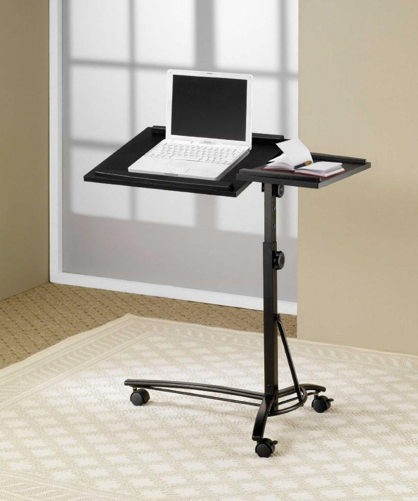 flair table desk on with most small portable black standing rolling computer wheels marvelous