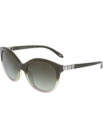 74c723d2eb Image Unavailable. Image not available for. Color  Tiffany   Co Women s  Gradient TF4133-82263M-56 Grey Round Sunglasses