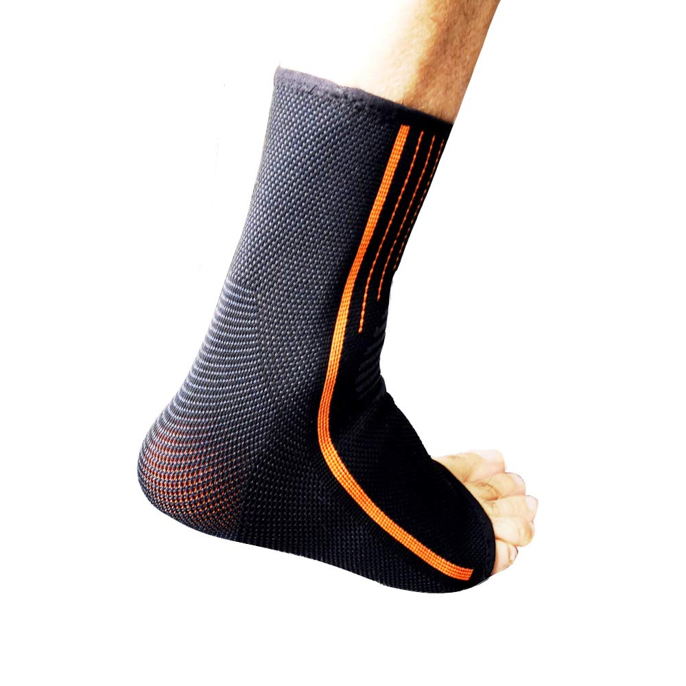 Ankle Brace-Teknub Pro Ankle Sleeve Elastic Ankle Brace Compression Support for Pain Relief, Plantar Fasciitis,Achilles Tendon,Perfert for Sports (M)