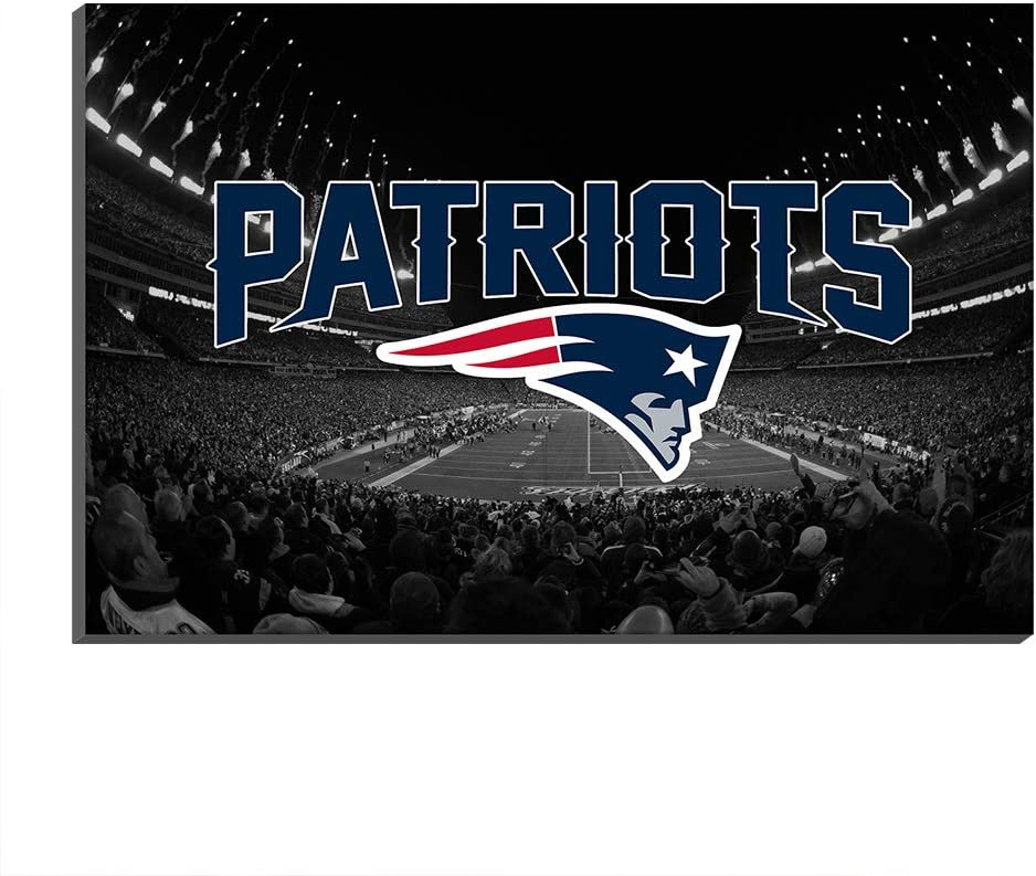 009 Mall New England Patriots Gillette Stadium Super Bowl Canvas Prints Giclee Art Football Poster Club Fans Painting Home Decor (Frame-Ready to Hang,30x50cm)