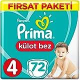 Prima Külot Bebek Bezi 4 Beden Maxi Fırsat Paketi 74 Adet