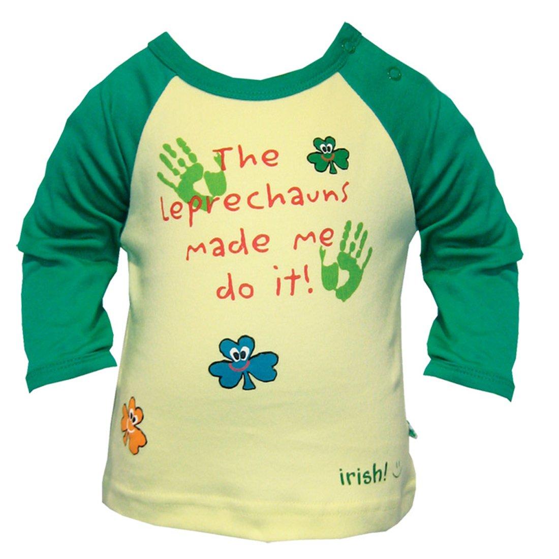 Traditional Craft Ltd Yellow//Green Leprechauns Made Me Do It Long Sleeve T Shirt