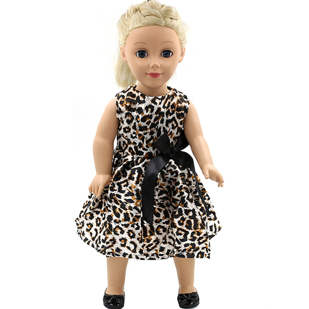 Leopard Dress Clothes for 18'' American Girl Doll