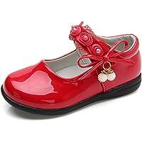DADAWEN Girl's Strap School Uniform Dress Shoe Mary Jane Flat (Toddler/Little Kid)