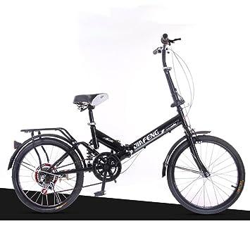 XQ XQ-TT-612 Negro 20 Pulgadas Velocidad Variable Bicicleta Plegable Amortiguación Bicicleta Bicicletas