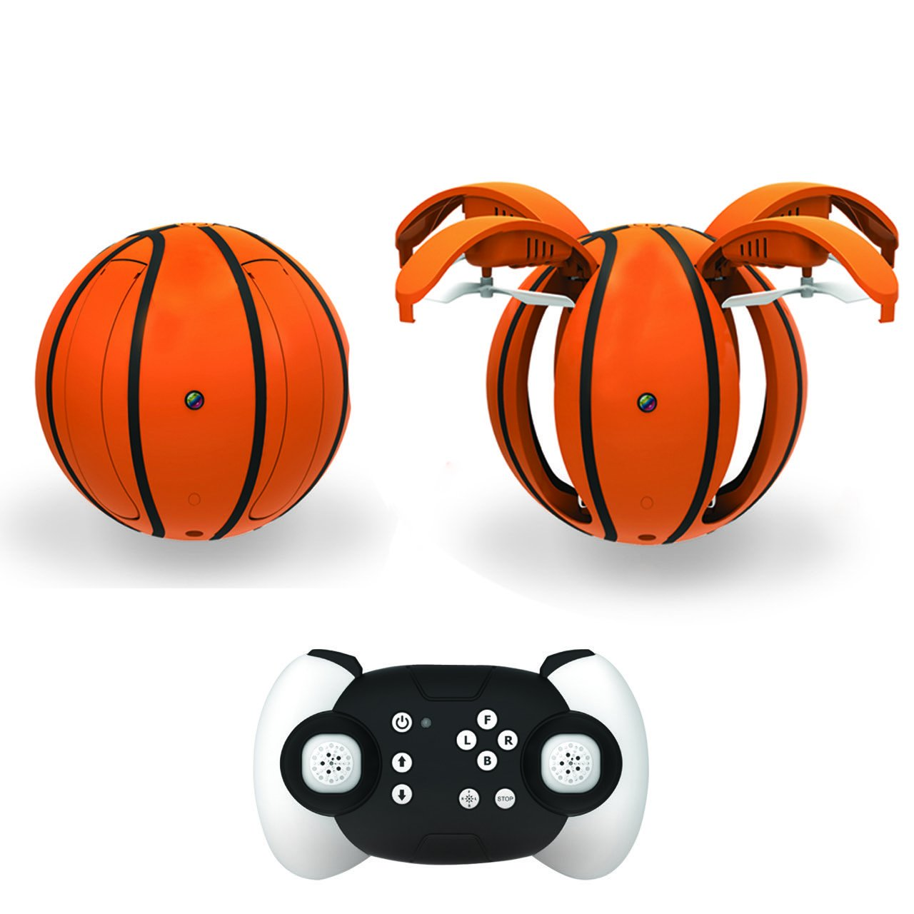 Zcadoo - Mini App-Controlled Folding Basketball Quadcopter RC Drone for Kids with HD Camera