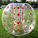 Happybuy Inflatable Bumper Ball 1.2M/4ft 1.5M/5ft Diameter Bubble Soccer Ball Blow Up Toy in 5 Min Inflatable Bumper Bubble Balls for Adults or Child (Red Dot, 4ft)