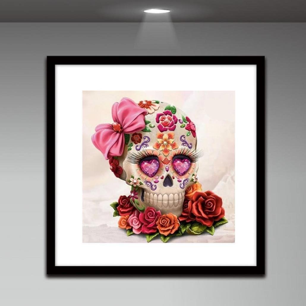 C Quaanti Full Square//Round Drill 5D DIY Diamond PaintingHuman Skull 3D Embroidery Cross Stitch Mosaic Decor Gift