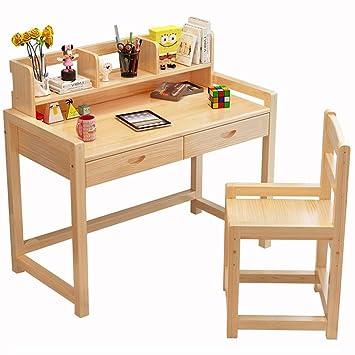 Mesa de estudio infantil de madera para niños, mesa de estudio ...