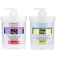 Advanced Clinicals Retinol Firming Cream and COQ10 Wrinkle Defense Cream - 2pc skin...