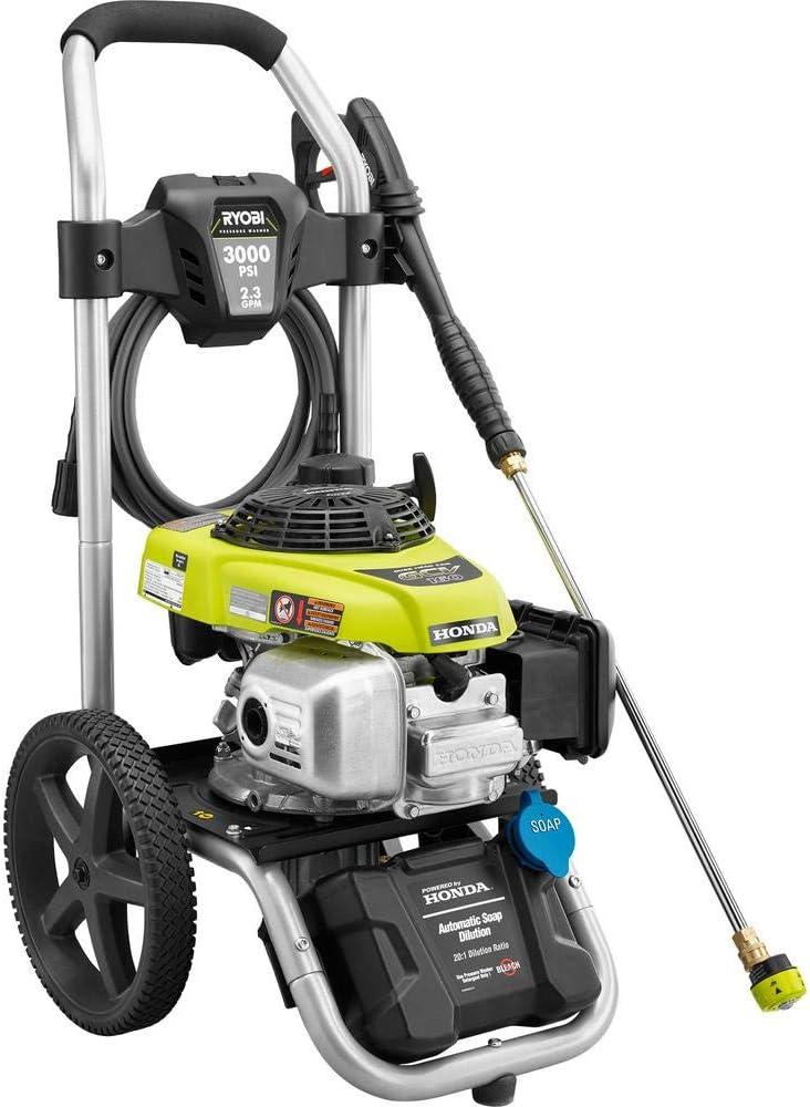 Amazon Com Ryobi 3000 Psi 2 3 Gpm Honda Gas Pressure Washer Electronics