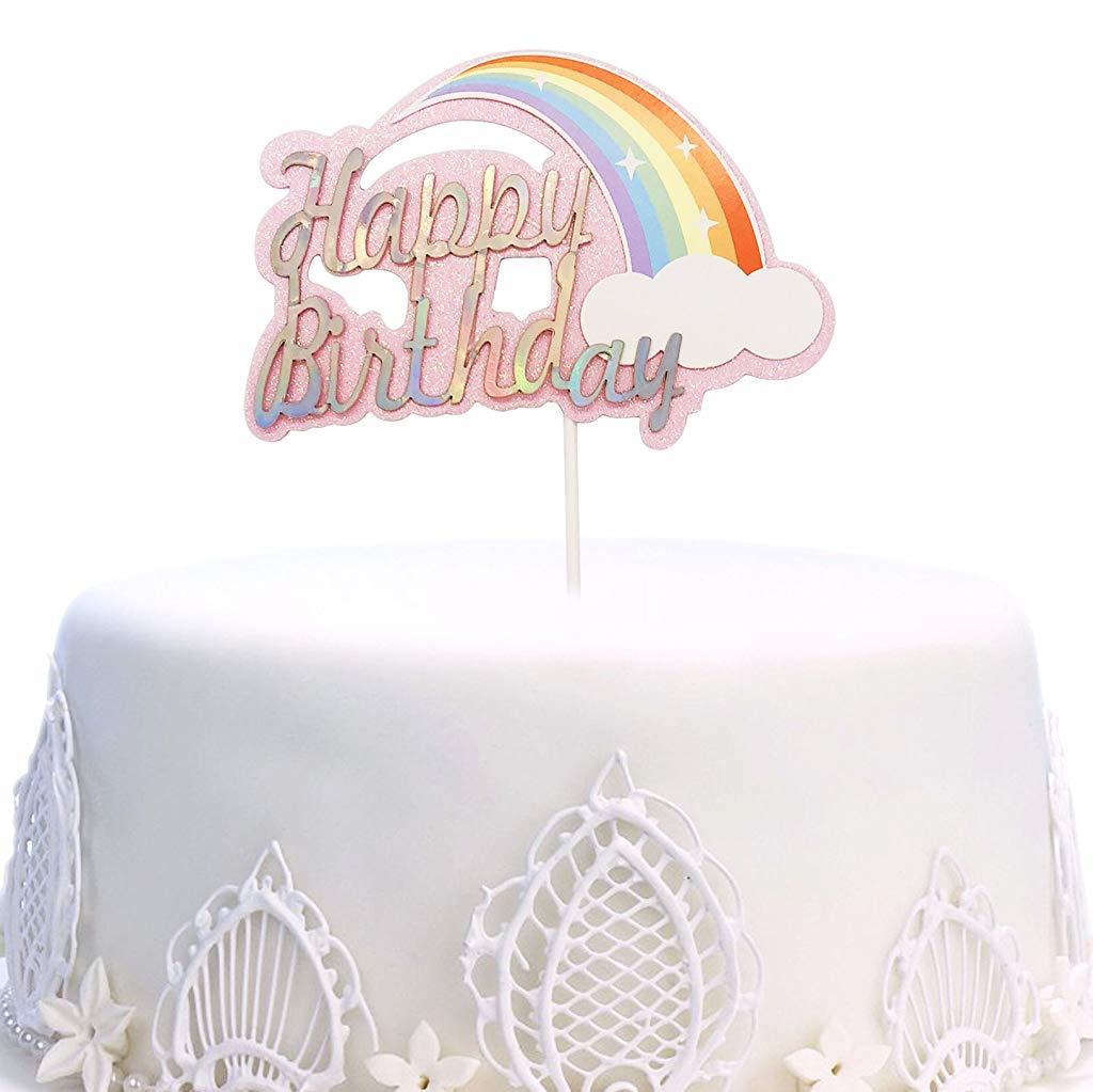 Groovy Buy Hasthip Happy Birthday Cake Topper Rainbow Twinkle Diy Personalised Birthday Cards Xaembasilily Jamesorg