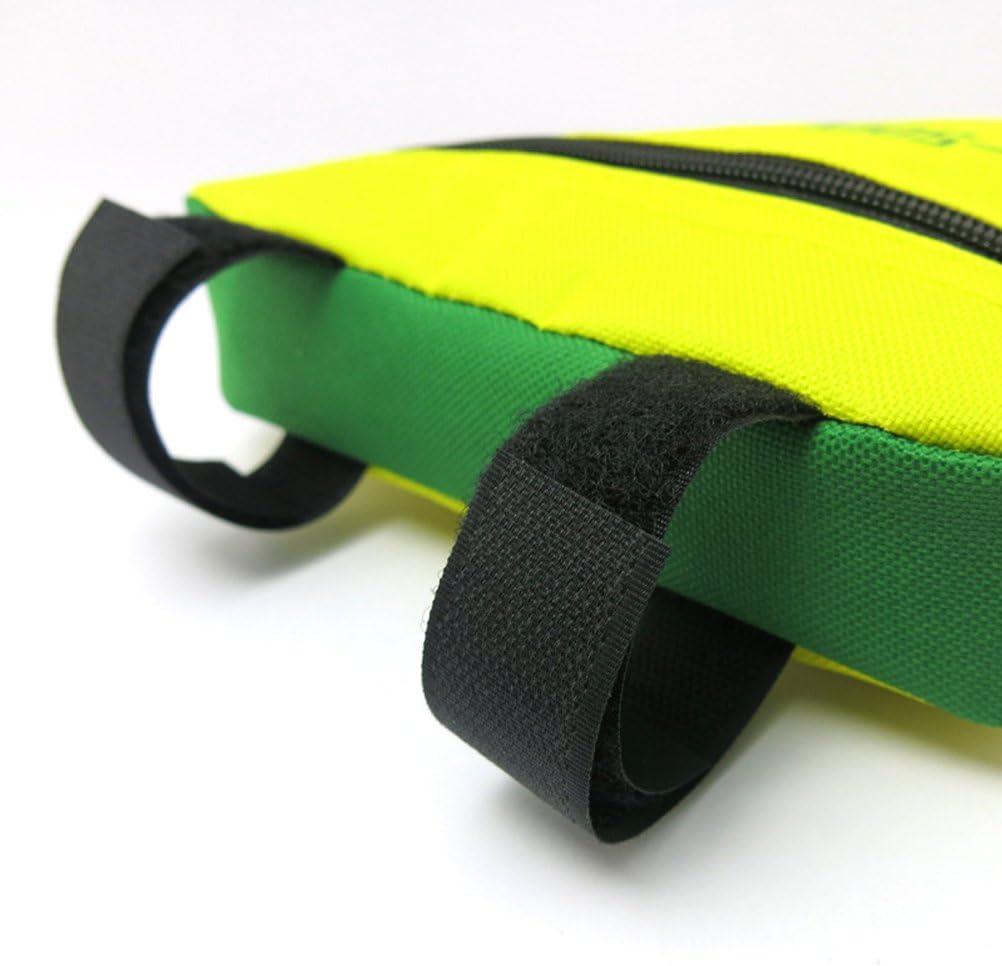 winomo /étanche Triangle Sacoche v/élo poches avant Cadre tubulaire Cyclisme VTT V/élo Support de cadre Sacoche de selle bicicl ETA Accessoires Jaune et Vert