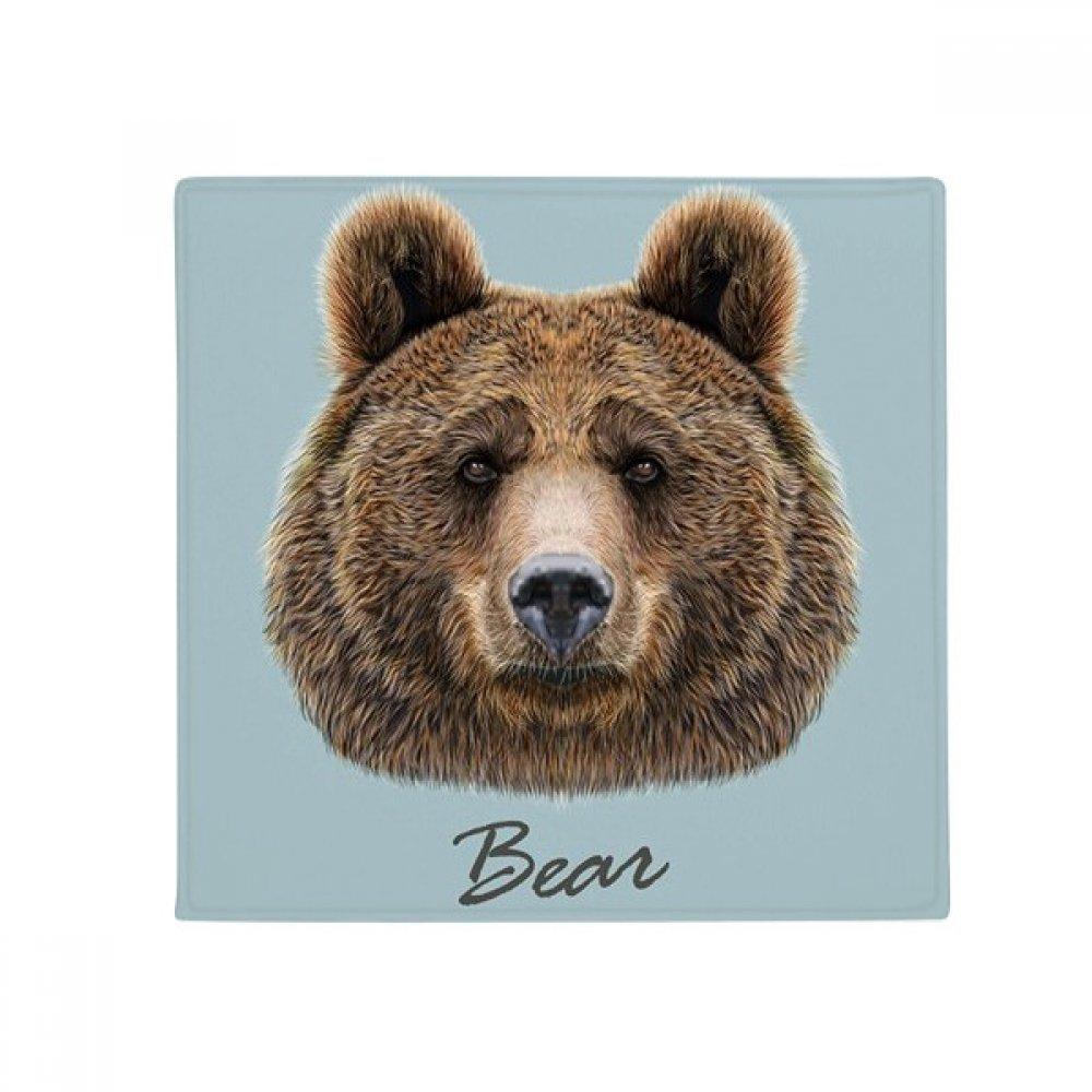DIYthinker Giant Wild Brown Bear Animal Anti-Slip Floor Pet Mat Square Home Kitchen Door 80Cm Gift