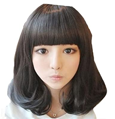 6c773c1363404c Plus Nao(プラスナオ) フルウィッグ ミディアム セミロング ボブ ストレート マッシュルーム ショート ウイッッグ wig エクステ